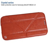 Кожаный чехол-книга HOCO Crystal leather Case Brown для Samsung i9150 Galaxy Mega 5.8