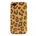 Кожаный чехол Nuoku Leopard Series Case Brown для Apple iPhone 4/4S(#4)