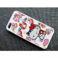 Пластиковый чехол Hello Kitty White Crystal для Apple iPhone 5/5S/5SE(#1)