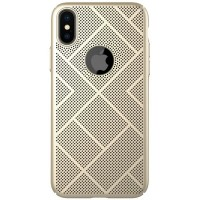 Пластиковая накладка Nillkin Air Case Gold для Apple iPhone X/ iPhone XS
