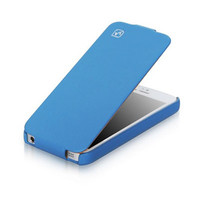 Кожаный чехол HOCO Duke leather case Blue для Apple iPhone 5/5S/5SE