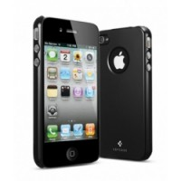 Пластиковый чехол SGP Ultra Thin Air Vivid Series Black для Apple iPhone 4/4S