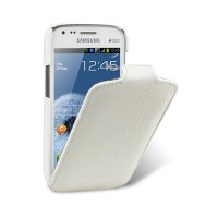 Кожаный чехол Melkco Leather Case White LC для Samsung i8190 Galaxy S3 mini