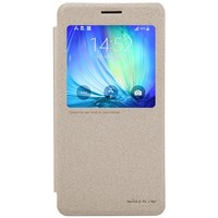 Полиуретановый чехол Nillkin Sparkle Leather Case Gold для Samsung Galaxy A7
