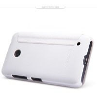 Полиуретановый чехол Nillkin Sparkle Leather Case White для Nokia Lumia 630