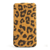 Кожаный чехол Nuoku Leopard Series Case Brown для Apple iPhone 4/4S