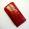 Кожаный чехол Abilita Leather Case Red Crocodile для Nokia Lumia 630(#1)