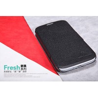 Кожаный чехол Nillkin Fresh Series Black для Samsung i9500 Galaxy S4