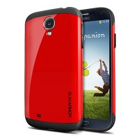 Пластиковый чехол SGP Slim Armor Series Crimson Red для Samsung i9500 Galaxy S4
