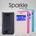 Полиуретановый чехол Nillkin Sparkle Leather Case Black для Sony Xperia E1 Dual(#1)