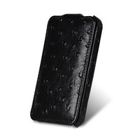 Чехол Melkco Leather Case Ostrich Pattern Bitumen Black для Samsung i9100 Galaxy S2