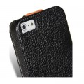 Кожаный чехол книга Melkco Leather Case Black/Orange LC для Apple iPhone 5/5S/5SE(#4)
