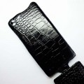 Кожаный чехол Abilita Leather Case Black Crocodile для Huawei Ascend G6(#4)