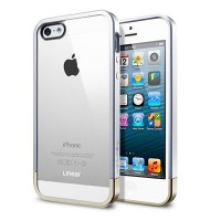 Пластиковый чехол SGP Linear Metal Crystal Series Silver Satin для Apple iPhone 5/5S/5SE
