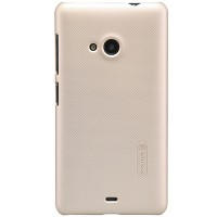 Пластиковый чехол Nillkin Super Frosted Shield Gold  для Nokia Lumia 535