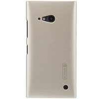 Пластиковый чехол Nillkin Super Frosted Shield Gold  для Nokia Lumia 730
