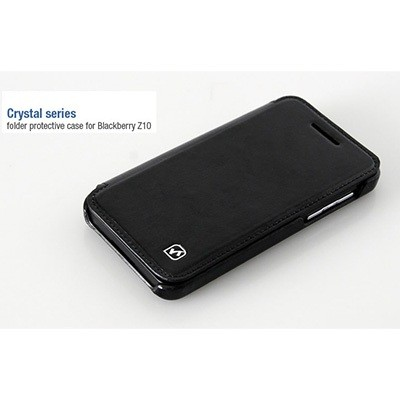 Кожаный чехол HOCO Crystal leather Case Black для BlackBerry Z10