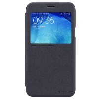 Полиуретановый чехол Nillkin Sparkle Leather Case Black для Samsung Galaxy J5