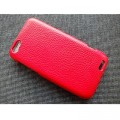 Кожаный чехол Melkco Leather Case Red LC для HTC One V(#2)