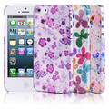 Пластиковый чехол Baseus Romance Case Flowers для Apple iPhone 5/5S/5SE(#4)