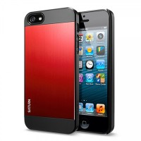 Пластиковый чехол SGP Saturn Series Metal Red для Apple iPhone 5/5S/5SE