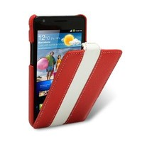 Кожаный чехол Melkco Leather Case Red/White для Samsung i9100 Galaxy S2