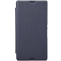 Полиуретановый чехол Nillkin Sparkle Leather Case Black  для Sony Xperia E3 Dual