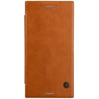 Кожаный чехол Nillkin Qin Leather Case Brown для Sony Xperia XZ Premium