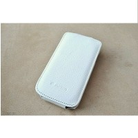 Кожаный чехол книга Melkco Leather Case White LC для Samsung i9070 Galaxy S Advance
