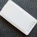 Кожаный чехол Melkco Leather Case White LC для HTC One M7(#1)