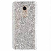 Силиконовый бампер Diamond TPU Case 1mm Silver для Xiaomi Redmi Note 4