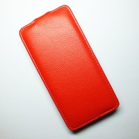 Кожаный чехол Armor Case Red для Alcatel One Touch Idol X 6040