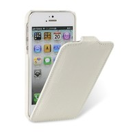 Кожаный чехол Melkco Leather Case Crocodile White LC для Apple iPhone 5/5S/5SE