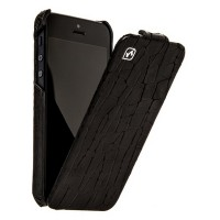 Кожаный чехол HOCO Knight Leather Case Black для Apple iPhone 5/5S/5SE