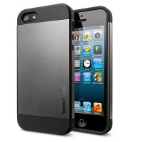 Пластиковый чехол SGP Slim Armor Series Metal Slate для Apple iPhone 5/5S/5SE