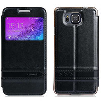 Полиуретановый чехол Usams Merry Series Black для Samsung G850 Galaxy Alpha