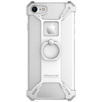 Алюминиевый бампер с кольцом на палец Nillkin Barde Silver для Apple iPhone 7/iPhone 8