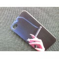 Пластиковый чехол Hand with a cigarette Black для Apple iPhone 4/4S(#4)