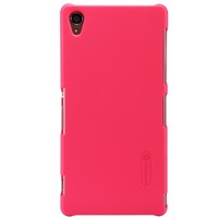 Пластиковый чехол Nillkin Super Frosted Shield Bright Red  для Sony Xperia Z3 D6603