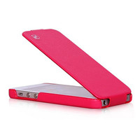 Кожаный чехол HOCO Duke leather case Dark Pink для Apple iPhone 5/5S/5SE