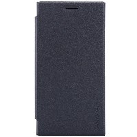 Полиуретановый чехол Nillkin Sparkle Leather Case Black  для Nokia Lumia 730