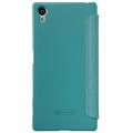 Полиуретановый чехол Nillkin Sparkle Leather Case Blue для Sony Xperia Z5(#2)