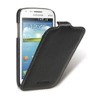 Кожаный чехол-книга Melkco Leather Case Black LC для Samsung i8262 Galaxy Core