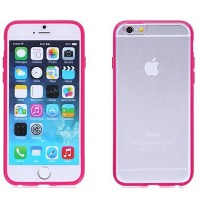 Силиконовый чехол Ainy TPU Case Pink/Transparent для Apple iPhone 6/6S