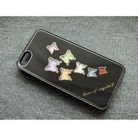 Пластиковый чехол Butterfly Black Swarovski для Apple iPhone 5/5S/5SE