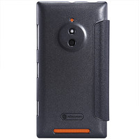 Полиуретановый чехол Nillkin Sparkle Leather Case Black  для Nokia Lumia 830