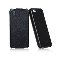 Кожаный чехол HOCO Duke leather case Black для Apple iPhone 5/5S/5SE