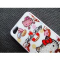 Пластиковый чехол Hello Kitty White Crystal для Apple iPhone 5/5S/5SE(#2)