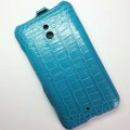 Кожаный чехол Abilita Leather Case Blue Crocodile для Nokia Lumia 1320(#3)