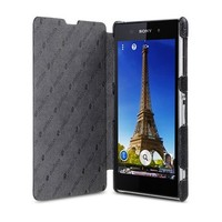 Кожаный чехол Melkco Leather Case Book Type Black LC для Sony Xperia Z1 L39h